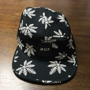 Huf SNOWLIFE VOLLEY Black White 5 Panel Cap